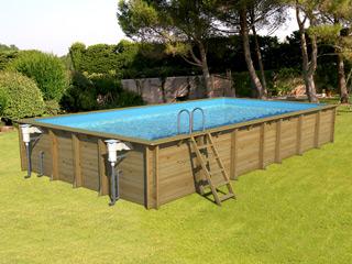 piscine hors sol bois proswell weva rectangle 12x4 h146cm sur march. Black Bedroom Furniture Sets. Home Design Ideas
