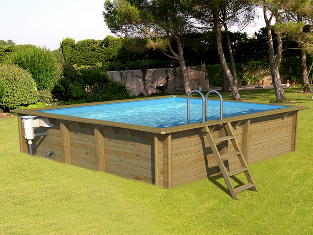piscine hors sol bois proswell weva carre 3x3 h120cm sur march. Black Bedroom Furniture Sets. Home Design Ideas