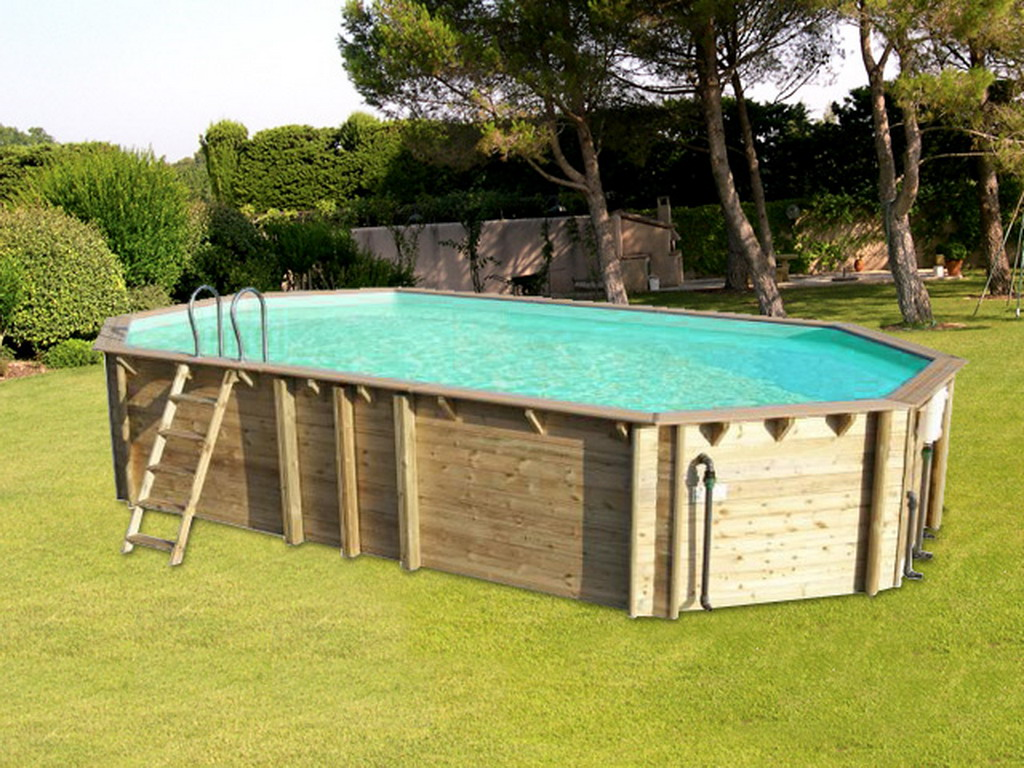 Piscine hors sol bois proswell odyssea octo 840 h146cm for Odyssea piscine