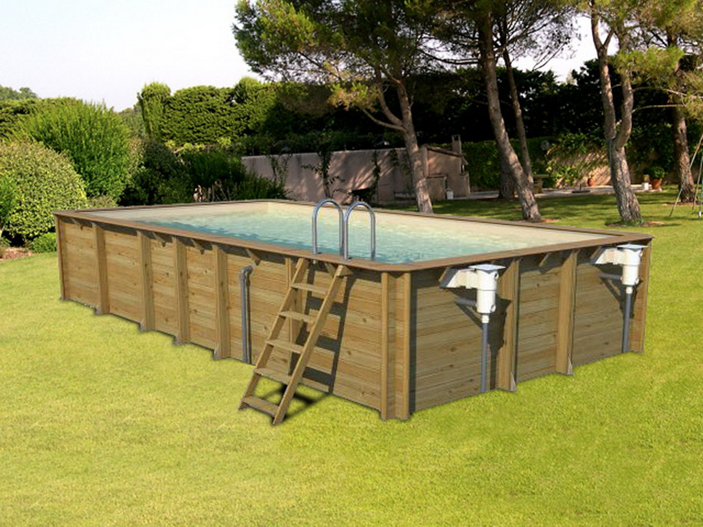 Piscine hors sol bois proswell odyssea rectangle 8x4 Liner 4 50 x 1 20