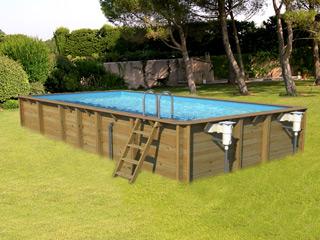 piscine bois 9x3