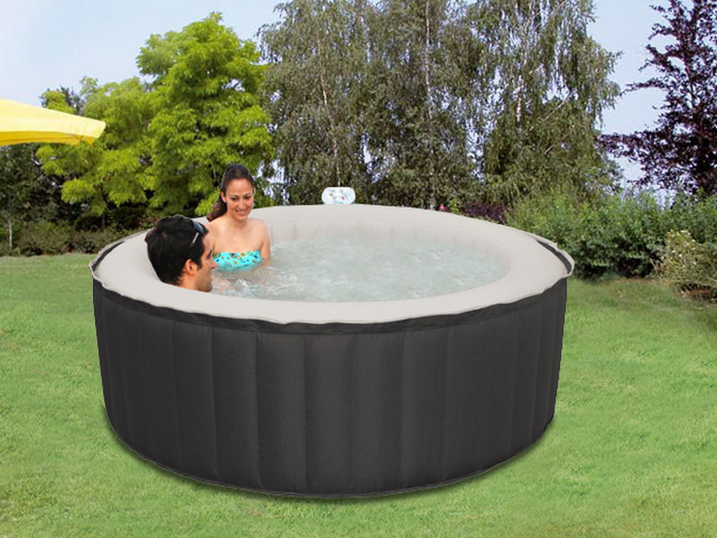 Spa gonflable 4 places water health even rond 180 x 70cm for Piscine 4 places