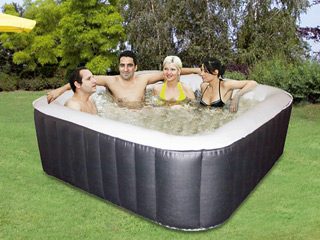 Spa gonflable 8 places Water Health MAYA carre 185 x 185 x 65cm PVC noir