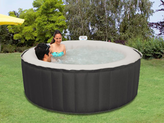Spa gonflable 6 places Water Health ECLIPS rond Ø208 x 65cm toile nylon noir