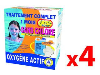 Pack traitement 4 mois tcm oxygene actif pour piscine 18 30m sur march - Traitement piscine oxygene actif ...