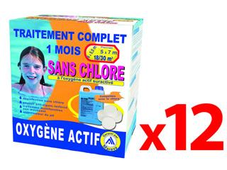 Pack traitement 12 mois tcm oxygene actif pour piscine 18 - Traitement piscine a l oxygene actif ...