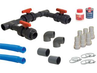 kit by pass complet universal pour pompe chaleur piscine. Black Bedroom Furniture Sets. Home Design Ideas