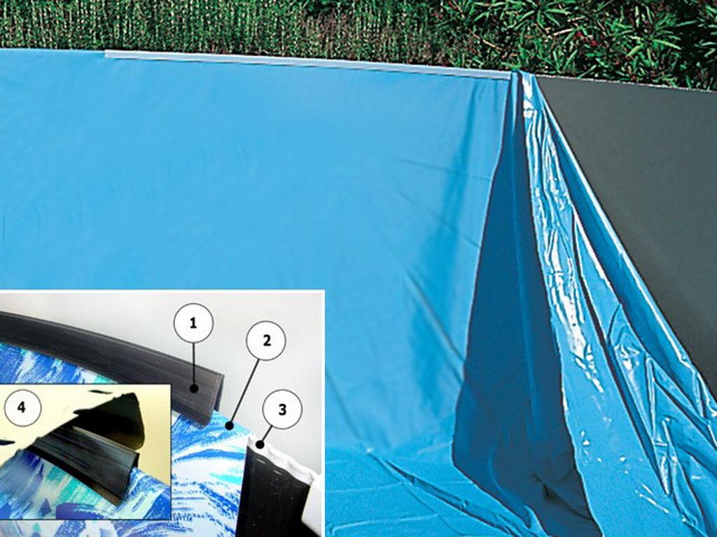 Liner piscine hors-sol Toi SWIMPOOL ovale 9 x 9 x 9cm 9µ coloris uni  bleu