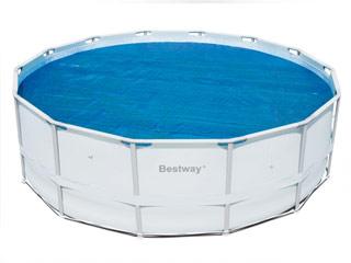Couverture solaire bestway steel pro 410cm pour piscine for Liner pour piscine hors sol bestway