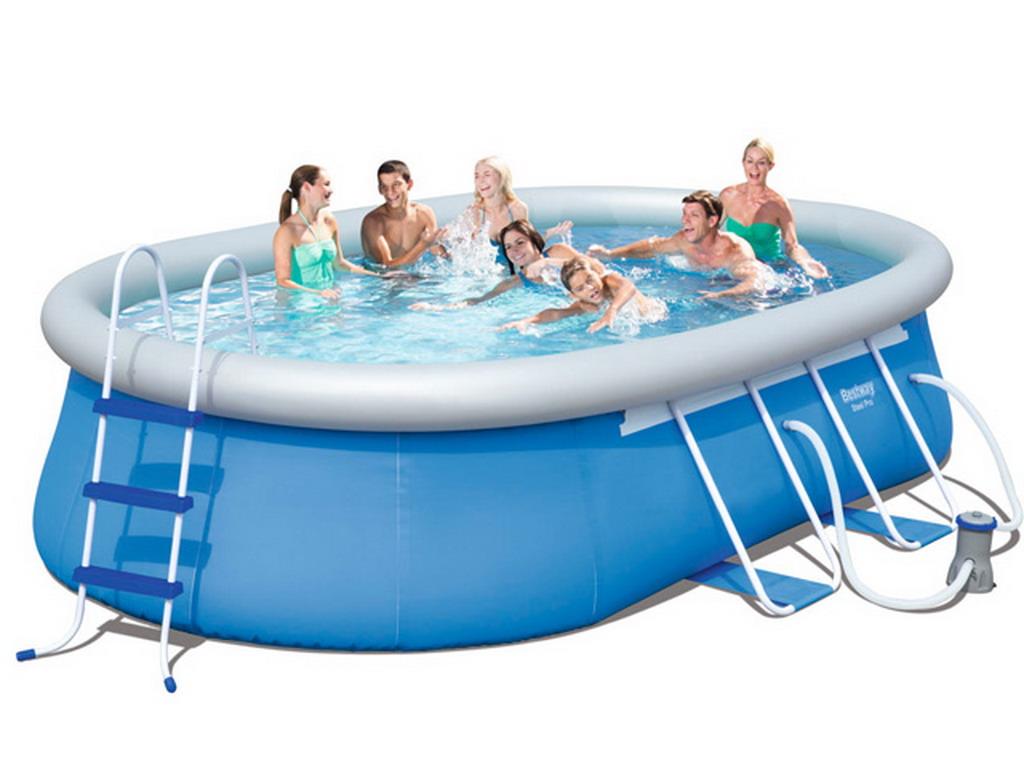 piscine hors sol autoportante bestway fast set pool ovale. Black Bedroom Furniture Sets. Home Design Ideas
