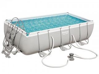 Bestway - Kit piscine tubulaire Bestway POWER STEEL FRAME POOL rectangulaire 404x201x100cm