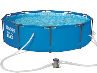 Bestway - Kit piscine Bestway STEEL PRO MAX POOL ronde Ø305 x 76cm filtration cartouche