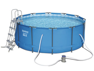 Kit piscine Bestway STEEL PRO MAX POOL ronde Ø366 x 122cm filtration cartouche