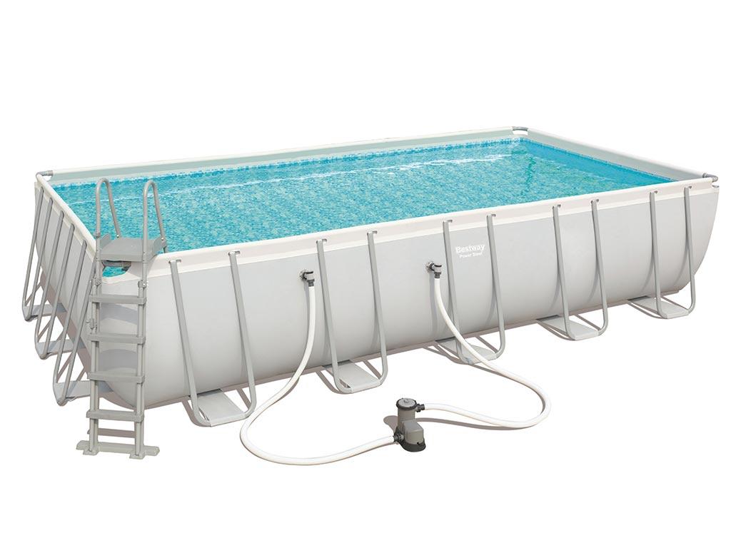 piscine hors sol bestway steel pro frame pool rectangulaire 671 x 366 x 132cm filtration. Black Bedroom Furniture Sets. Home Design Ideas