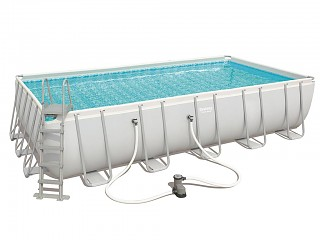 Piscine hors-sol Bestway POWER STEEL FRAME POOL rectangulaire 671 x 366 x 132cm filtration cartouche