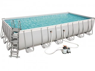 Piscine Bestway POWER STEEL FRAME POOL rectangulaire 732x366x132cm filtration sable