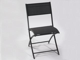 chaise pliante de jardin en aluminium et textil ne coloris noir sur march. Black Bedroom Furniture Sets. Home Design Ideas