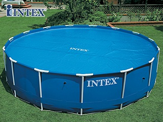 Couverture solaire d 39 t intex bulles 206cm pour piscine hors sol ronde 244cm sur - Couverture piscine hors sol toulouse ...