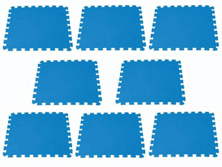 Tapis de sol intex puzzle coloris bleu piscine hors for Tapis mousse piscine