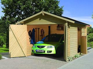 garage de jardin karibu garage 28 coloris bois naturel dimensions 297 x 447 x 270cm sur. Black Bedroom Furniture Sets. Home Design Ideas