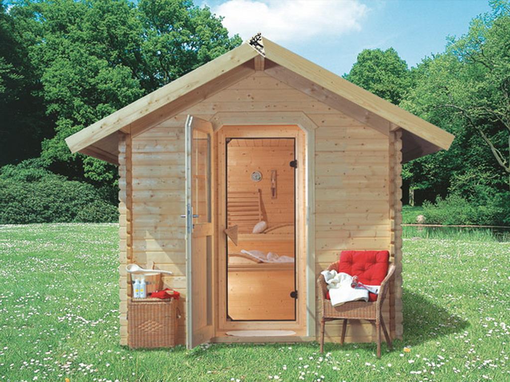 Karibu   Sauna Vapeur Du0027extérieur SAUNAHAUS 2 Bois Du0027épicéa 232 X 258 X  264cm