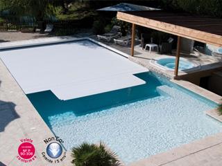 Volet automatique de s curit immerg abriblue veesio for Chauffage piscine avec volet