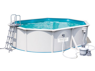 Bestway - Kit piscine Bestway HYDRIUM STEEL WALL POOL ovale filtration a sable 500x360x120 cm