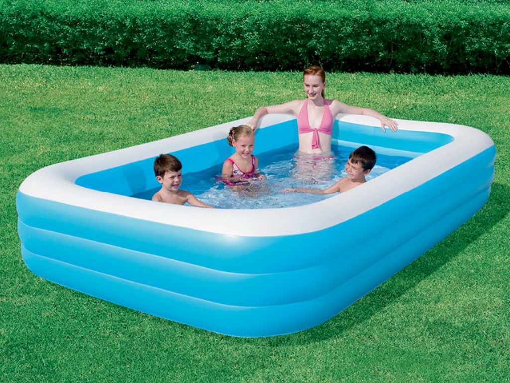 Piscine gonflable bestway deluxe ibeam rectangulaire 305 x for Video x piscine