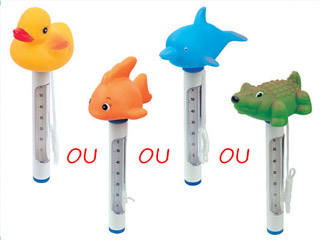 Thermom tre flottant bestway cool animal 23cm double for Thermometre piscine flottant