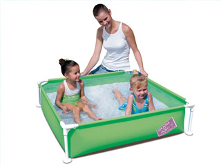 Piscine hors sol tubulaire bestway splash and play 122 x for Nettoyer piscine verte hors sol