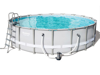 Kit piscine tubulaire Bestway POWER STEEL FRAME POOL ronde Ø549 x 132cm a cartouche