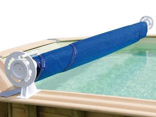 Achat enrouleur fixe mat riel piscine for Sangle pour bache a bulle piscine