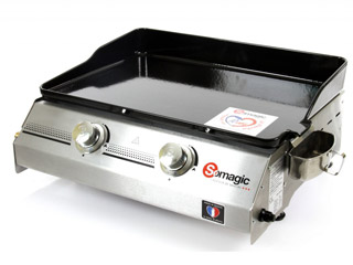 Somagic - Plancha Somagic MADE IN FRANCE 2 feux au gaz
