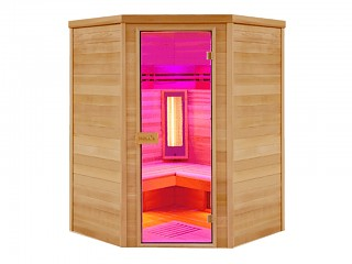 Sauna cabine infrarouge Holl's MULTIWAVE 3C 2550w 3/4 places