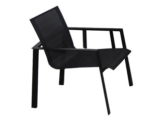 fauteuil de jardin miami 58 x 58 x 84cm aluminium et textil ne noir sur march. Black Bedroom Furniture Sets. Home Design Ideas