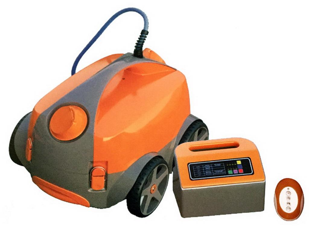 Robot piscine lectrique predator pro orange avec for Robot electrique