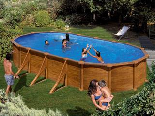 Kit piscine acier gr dreampool mauritius ovale x 3 for Piscine hors sol sans jambe de force