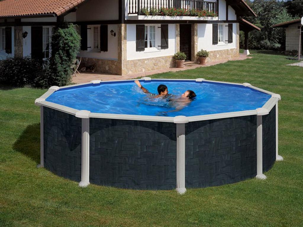 Kit piscine hors sol acier gr dreampool rattan ronde 4 for Piscine hors sol profondeur 1 60