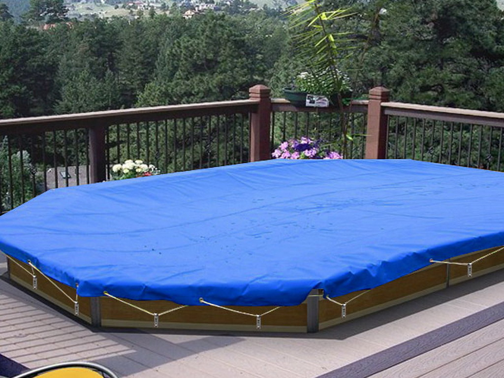 Couverture de s curit water clip securis pour piscine for Piscine bois ronde