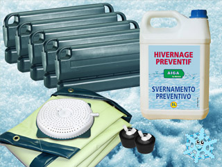 Kit d 39 hivernage ice protect complet pour piscine tubulaire for Hivernage piscine intex tubulaire