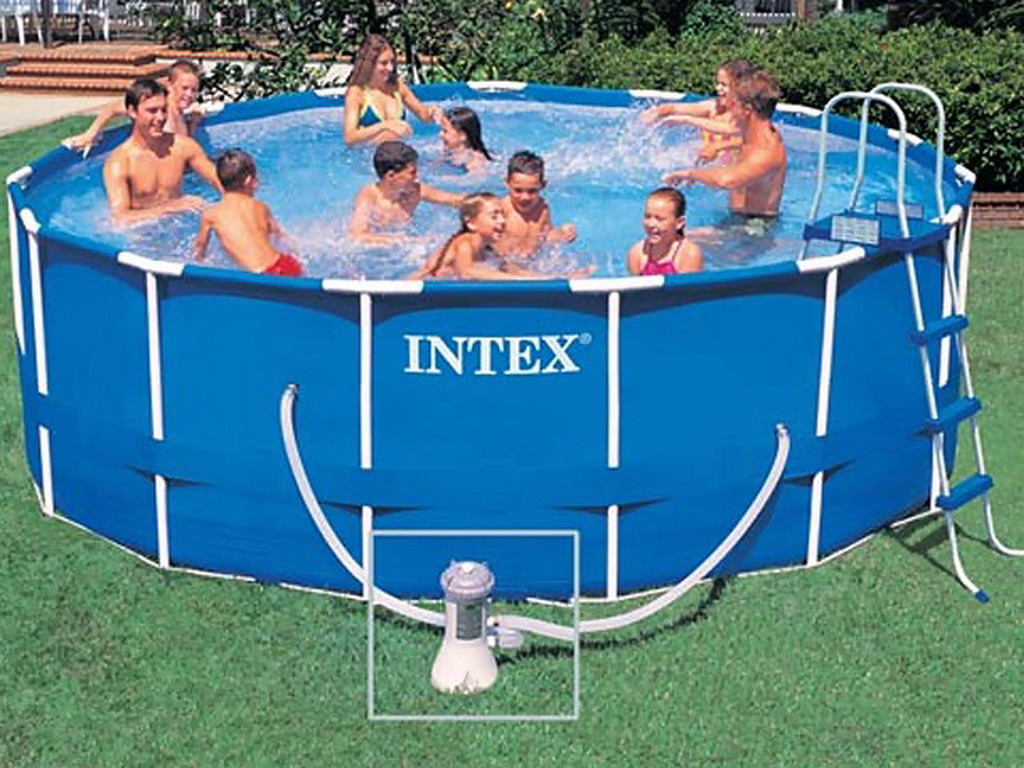 kit piscine tubulaire intex metal frame ronde avec filtration cartouche 1 cadeau offert sur. Black Bedroom Furniture Sets. Home Design Ideas