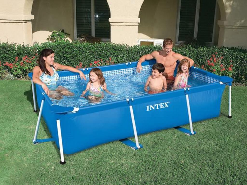 piscine hors sol tubulaire intex metal frame junior pour. Black Bedroom Furniture Sets. Home Design Ideas