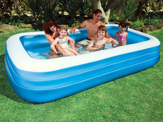 Piscine gonflable intex family rectangulaire dimensions for Piscine intex rectangulaire gonflable