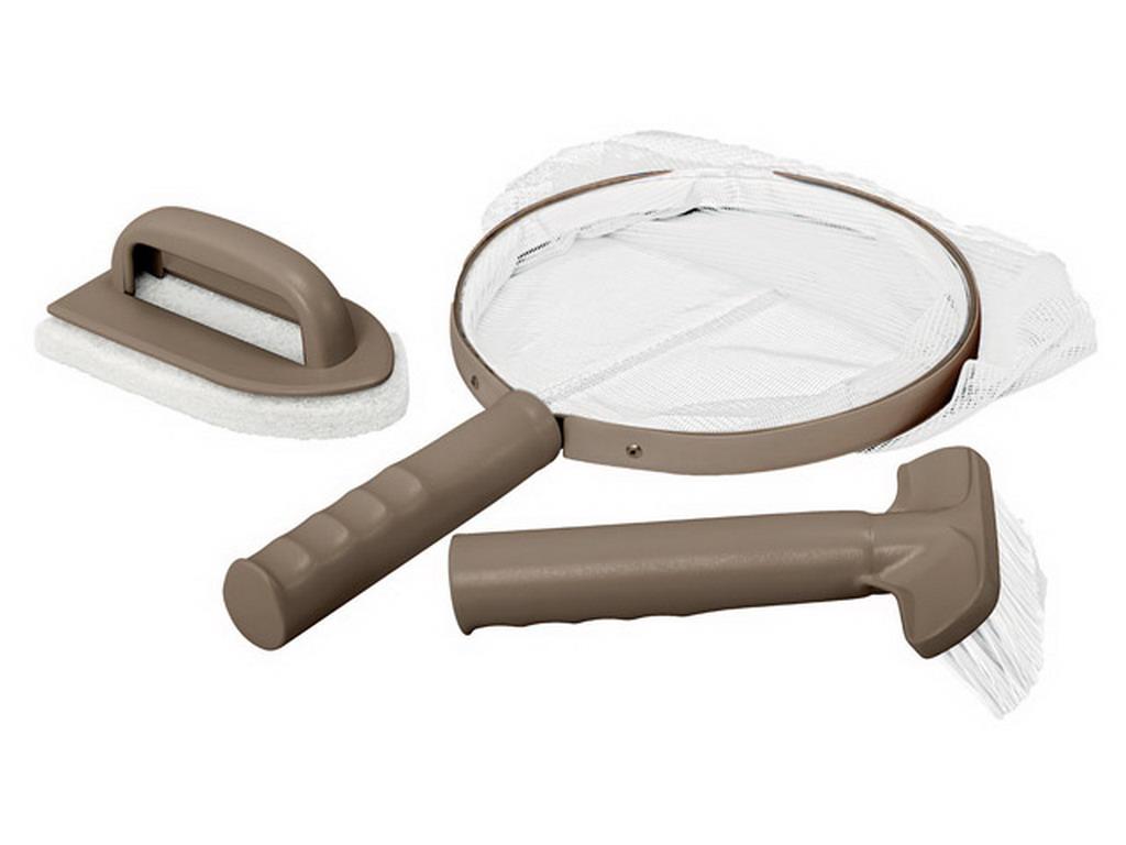 kit d 39 entretien intex purespa comprenant brosse puisette tampon pour spa gonflable intex. Black Bedroom Furniture Sets. Home Design Ideas