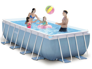 Kit piscine tubulaire intex prism frame rectangulaire 400 for Kit piscine tubulaire rectangulaire
