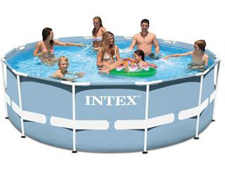 kit piscine tubulaire intex prism frame ronde 366 x 122cm filtration cartouche 1 cadeau. Black Bedroom Furniture Sets. Home Design Ideas