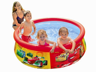 Intex - Piscine hors-sol autoportante Intex EASY SET CARS ronde Ø183 x 51cm