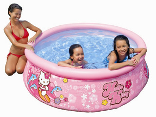 Intex - Piscine hors-sol autoportante Intex EASY SET HELLO KITTY ronde Ø183 x 51cm