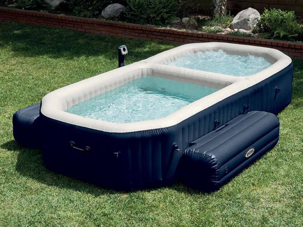 Intex - Spa piscine gonflable PURESPA BULLES octogonal allongé 386 x 183 x  71cm vinyle laminé 5299fba8d4e9