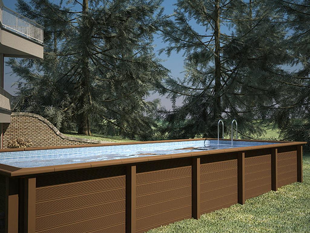 kit piscine b ton naturalis rectangulaire 7 50 x x m aspect bois sur march. Black Bedroom Furniture Sets. Home Design Ideas